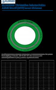 Kovien KLINGER-tiivisteiden kokotaulukko ASME B16.20