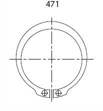 DIN 471, Ulkopuolinen varmistinrengas