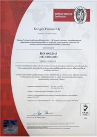 ISO9001/2015 ja ISO14001/2015