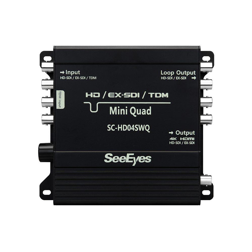 HD04SWQ HD-SDI quad splitter 4K out